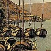 Lake Er Hai Boats Art Print