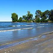Lake Erie At Sheldon Marsh 2 Art Print