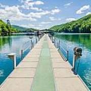 Lake Fontana Boats And Ramp In Great Smoky Mountains Nc Art Print