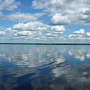 Lake Full Of Clouds Art Print