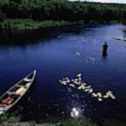 Lake Guiding Sports Fishing Art Print