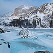 Lake Haiyaha Winter Art Print