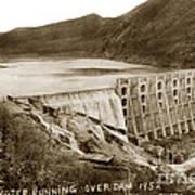 Lake Hodges And Dam San Diego County California  1952 Art Print