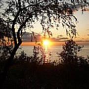Lake Huron Setting Sun Art Print