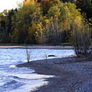 Lake Huron Shoreline In The Fall  Art Print