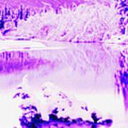 Lake And Ice Art Print