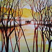 Lake In The Morning Art Print