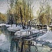 Lake In The Winter Art Print