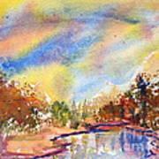 Lake In The Woods Art Print