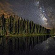 Lake Irene's Milky Way Mirror Art Print