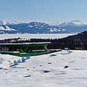 Lake Laberge Yukon Territory Canada In Winter Art Print