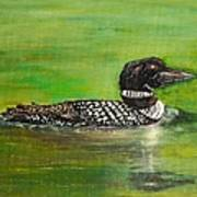 Lake Loon Art Print