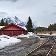Lake Louise Depot Art Print