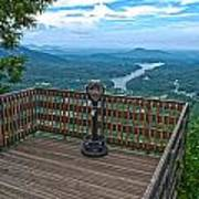 Lake Lure Overlook Art Print
