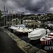 Lake Maggiore Boats 1 Art Print