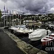 Lake Maggiore Boats Art Print