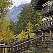 Lake Mcdonald Lodge In Glacier National Park Art Print