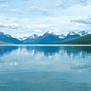 Lake Mcdonald Reflection In Glacier  National Park-montana Art Print