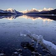 Lake Mcdonald Winter Art Print