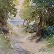 Lake Michigan Beach Path Art Print