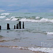 Lake Michigan Green Art Print