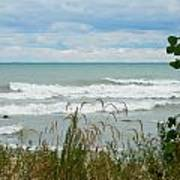 Lake Michigan In Racine Art Print