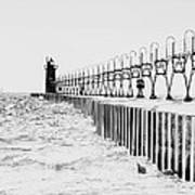 Lake Michigan Lighthouse Art Print