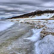 Lake Michigan Shelf Ice Art Print