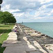 Lake Michigan Shore Near Foster Ave Beach Art Print