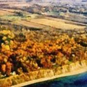 Lake Michigan Shoreline In Autumn Art Print