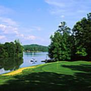 Lake On A Golf Course, Legend Course Art Print