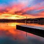 Lake Oneil Sunset Art Print