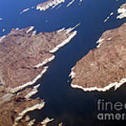 Lake Mead From Above Art Print