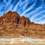 Lake Powell Rocks Art Print by Ayse Deniz