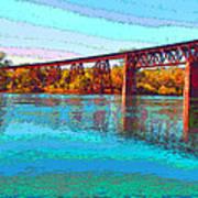 Lake Redding Ca Digital Painting Art Print