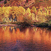 Lake Reflection In Fall 2 Art Print