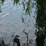 Lake Reflections Of Blue Art Print