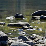 Lake Rocks Art Print