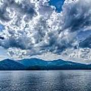 Lake Santeetlah In Great Smoky Mountains Nc Art Print