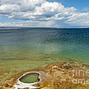 Lake Shore Geyser In West Thumb Geyser Basin Art Print