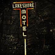 Lake Shore Motel Art Print