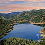 Lake Sonoma - California Art Print