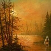 Lake Spirit Art Print