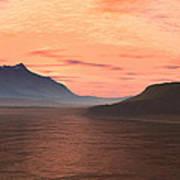 Lake Sunset 1 Art Print