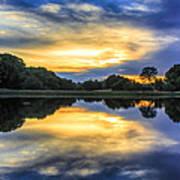 Lake Sunset Art Print