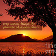 Lake Sunset With Promise Of A New Dawn Art Print by Beverly Claire Kaiya