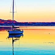 Lake Taupo Sailboat Art Print