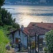 Lake View Down To Lake Como In Italy Art Print