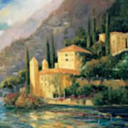 Lake Villa Art Print