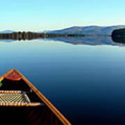 Lake Winnepasaukee Canoe Art Print